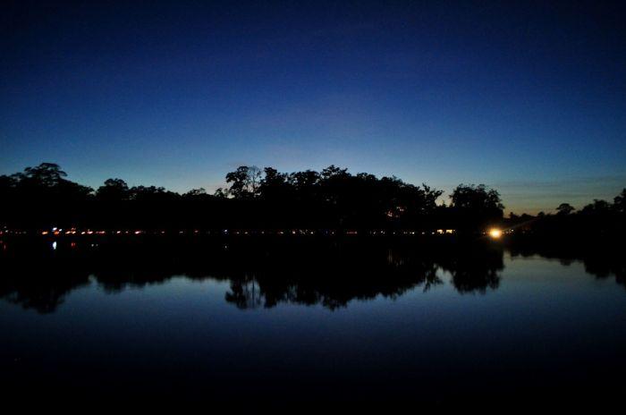 Zachod słońca w Angkorze