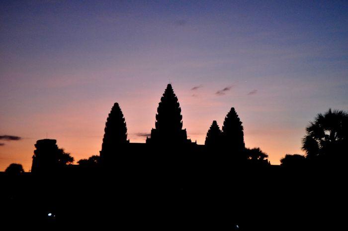 Wschód słońca w Angkor